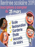 INSCRIPTIONS RENTREE SCOLAIRE 2019/2020