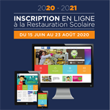 Inscriptions restauration scolaire 2020-2021