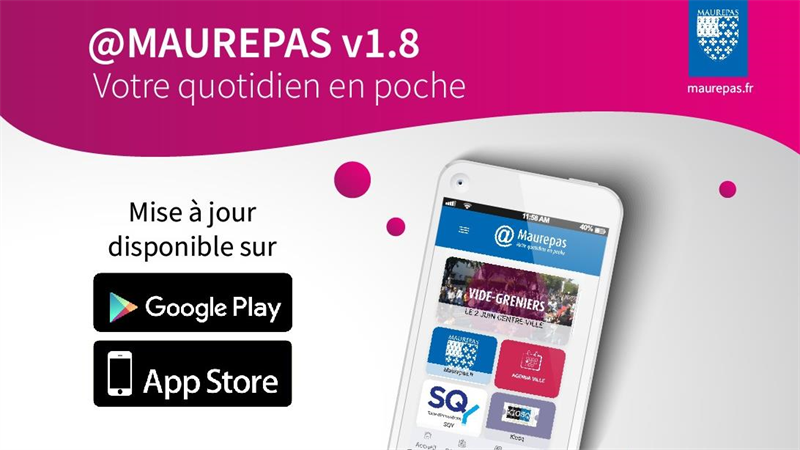 APPLICATION @MAUREPAS : TELECHARGEZ LA MISE A JOUR