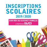 INSCRIPTIONS SCOLAIRES ANNEE 2019/2020
